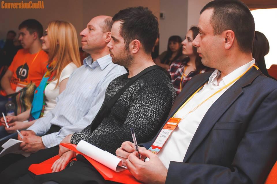 Конференція про підвищення конверсії сайтів та процесів продажів в бізнесі. Представники від Система Оптимум на чолі з директором Андрієм Володимировичем Маєвським та Павло Лисий.
