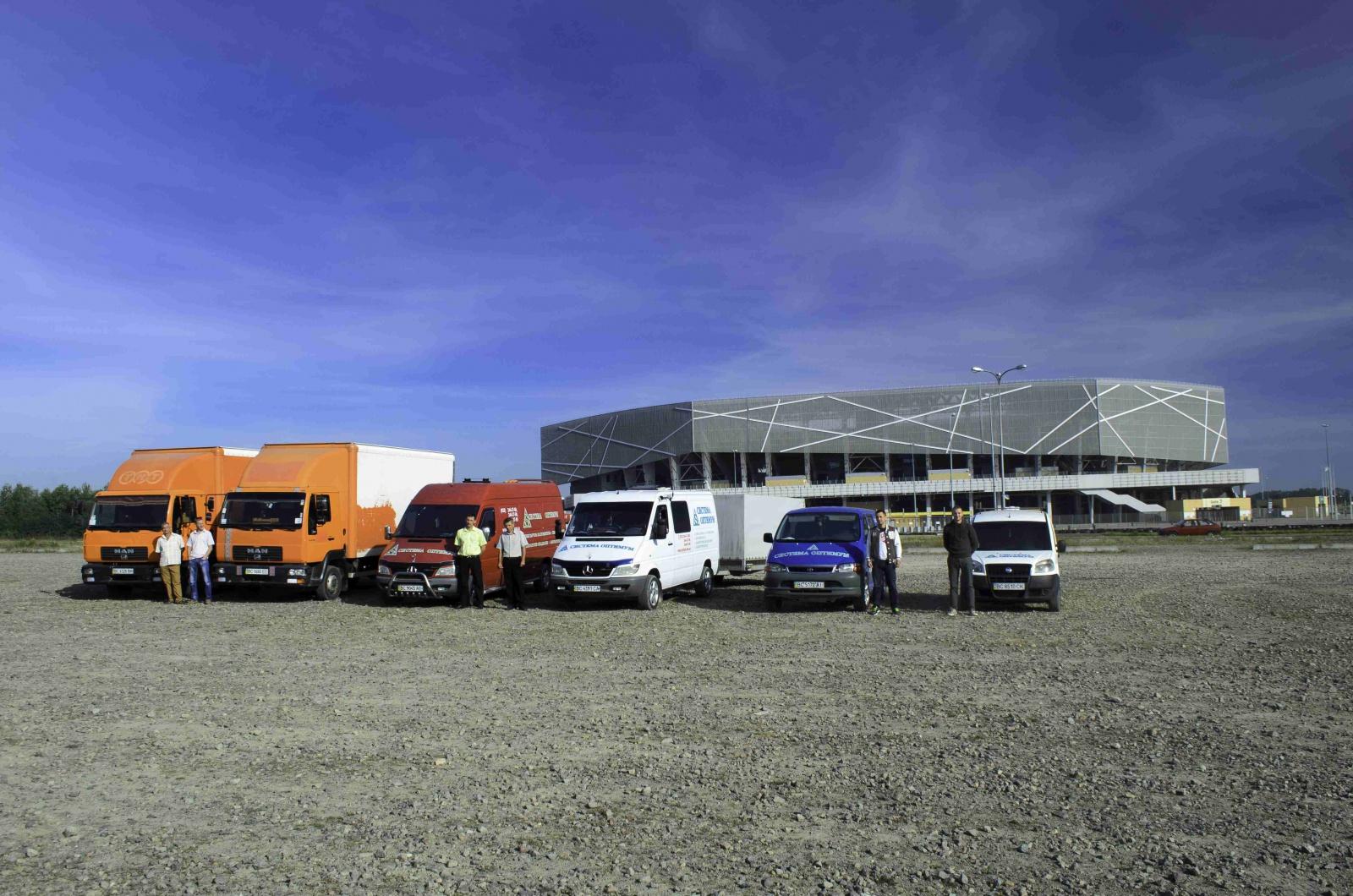 Автопарк Системи Оптимум для швидкої доставки товару клієнтам