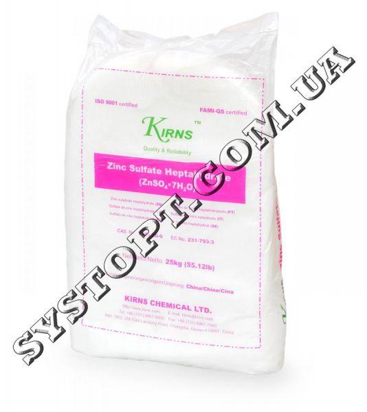 Сульфат цинку (цинк сірчанокислий, цинковий купорос) 7-водний