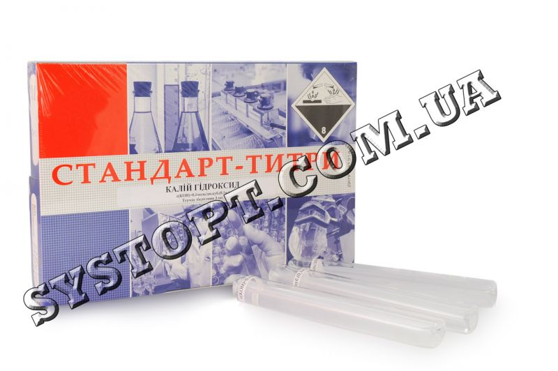 Фіксанали (стандарт-титри) тетраоксалат калію  pH 1,68 / 6 ампул