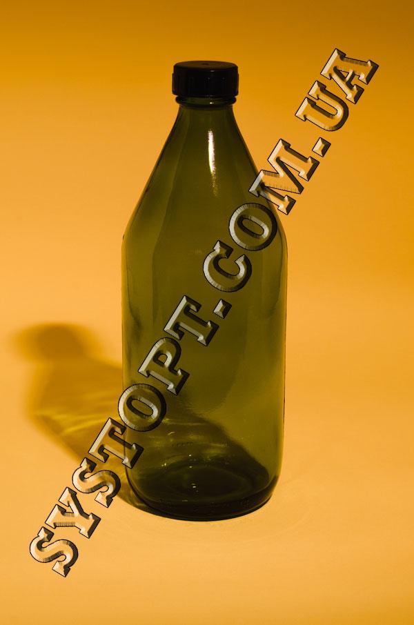 Бутылка стеклянная для реактивов 1 л