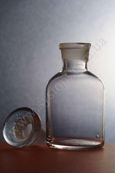 Бутлі для реактивів з пришліфованим корком, вузьке горло, світле скло